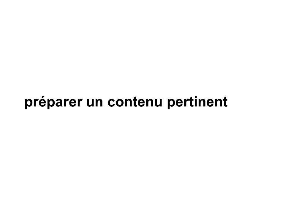 préparer un contenu pertinent