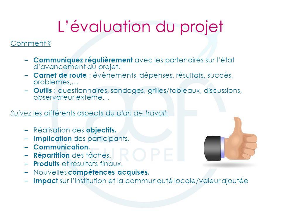 Lévaluation du projet Comment .
