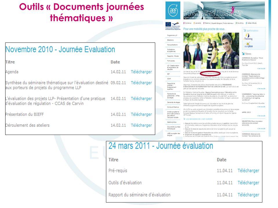 Outils « Documents journées thématiques »