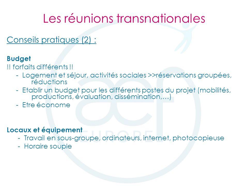 Conseils pratiques (2) : Budget !. forfaits différents !.