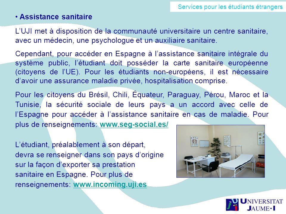 Assistance sanitaire LUJI met à disposition de la communauté universitaire un centre sanitaire, avec un médecin, une psychologue et un auxiliaire sani