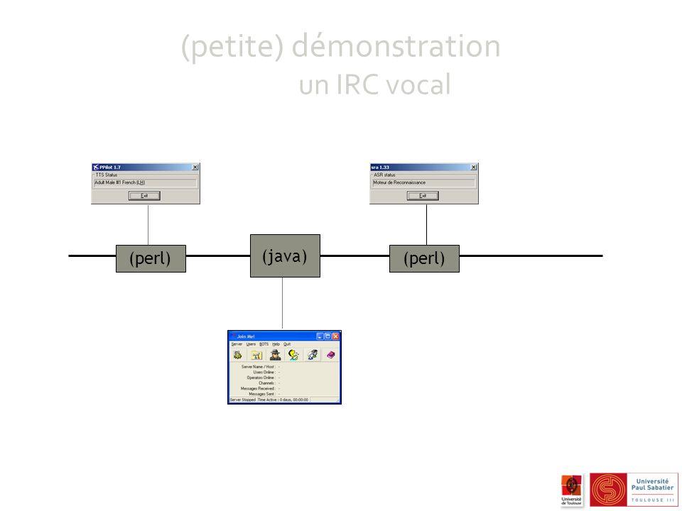 (petite) démonstration un IRC vocal (perl) (java)