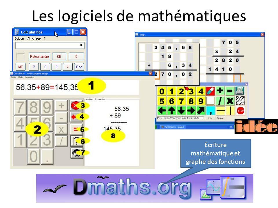 Les logiciels de mathématiques Écriture mathématique et graphe des fonctions