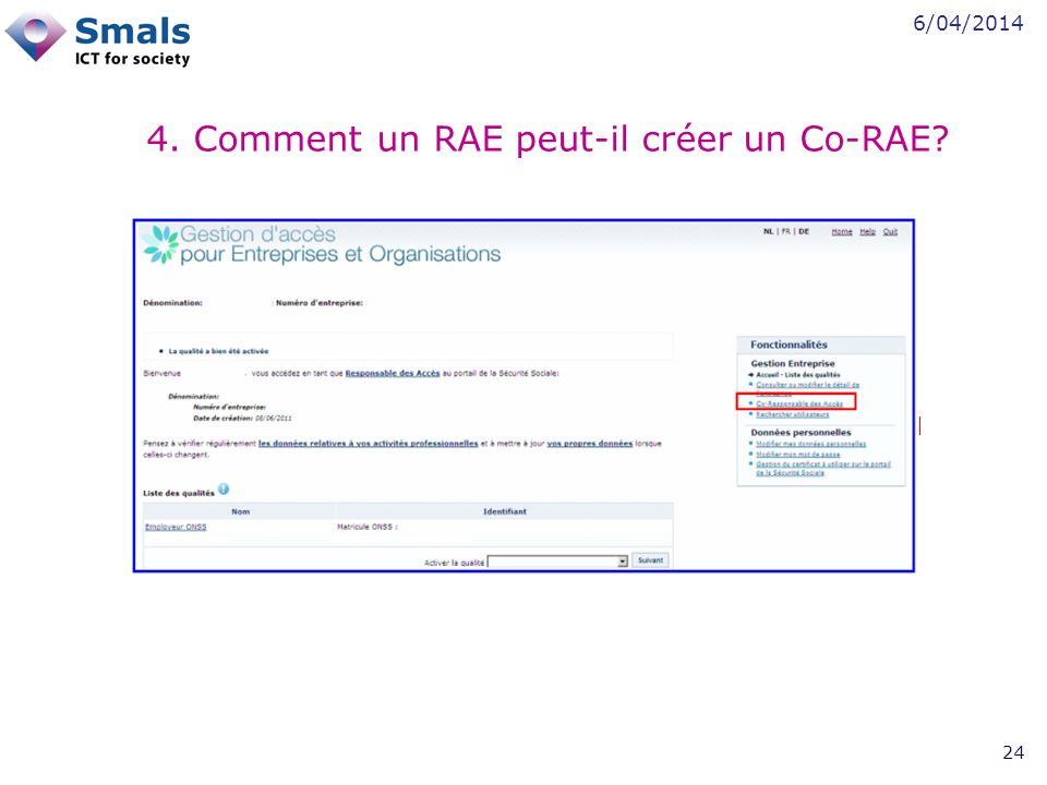 6/04/2014 24 4. Comment un RAE peut-il créer un Co-RAE