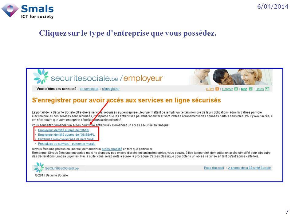 6/04/2014 8 Cliquez sur Désigner un responsable accès entité .