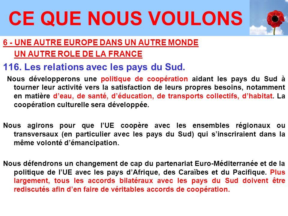 6 - UNE AUTRE EUROPE DANS UN AUTRE MONDE UN AUTRE ROLE DE LA FRANCE 116.