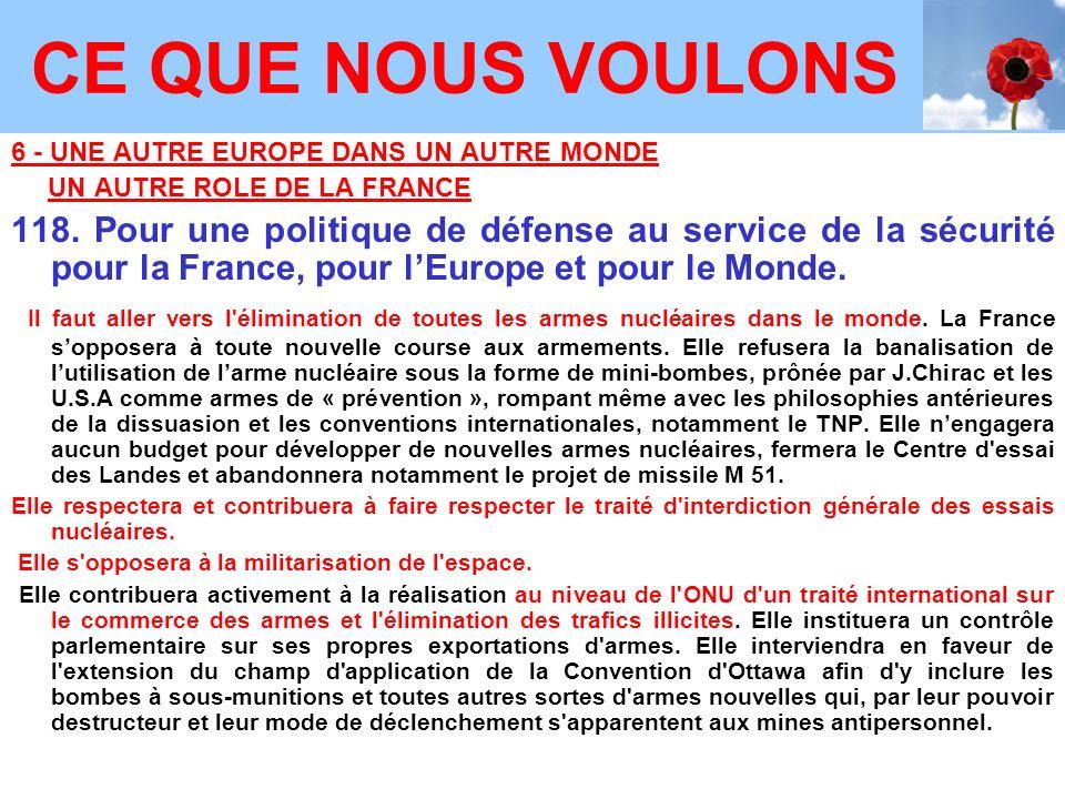 6 - UNE AUTRE EUROPE DANS UN AUTRE MONDE UN AUTRE ROLE DE LA FRANCE 118.