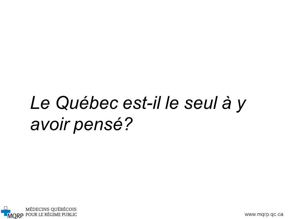 www.mqrp.qc.ca Le Québec est-il le seul à y avoir pensé?