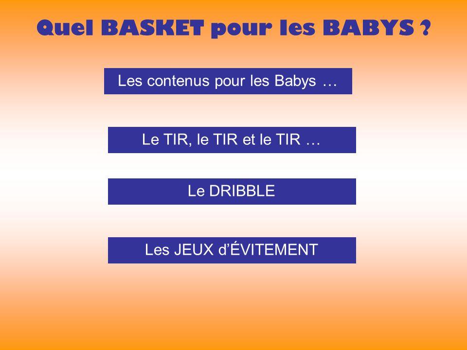 Quel BASKET pour les BABYS .