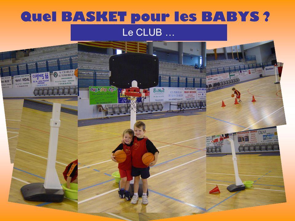 Quel BASKET pour les BABYS Le CLUB …