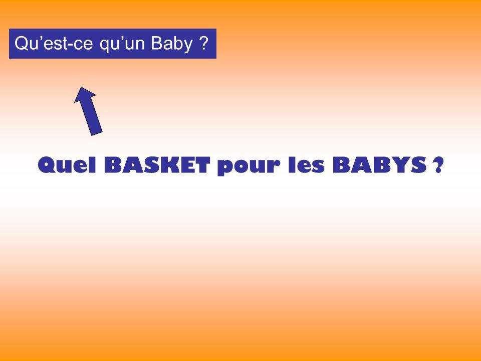 Quel BASKET pour les BABYS Quest-ce quun Baby