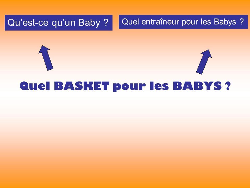 Quel BASKET pour les BABYS Quest-ce quun Baby Quel entraîneur pour les Babys
