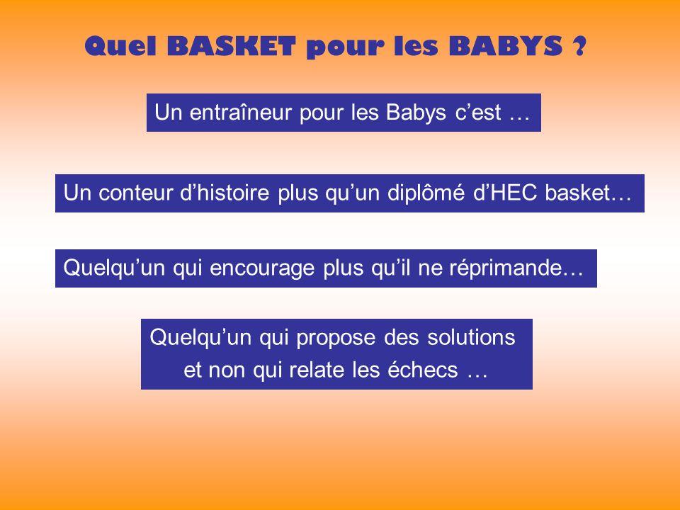 Un entraîneur pour les Babys cest … Quel BASKET pour les BABYS .