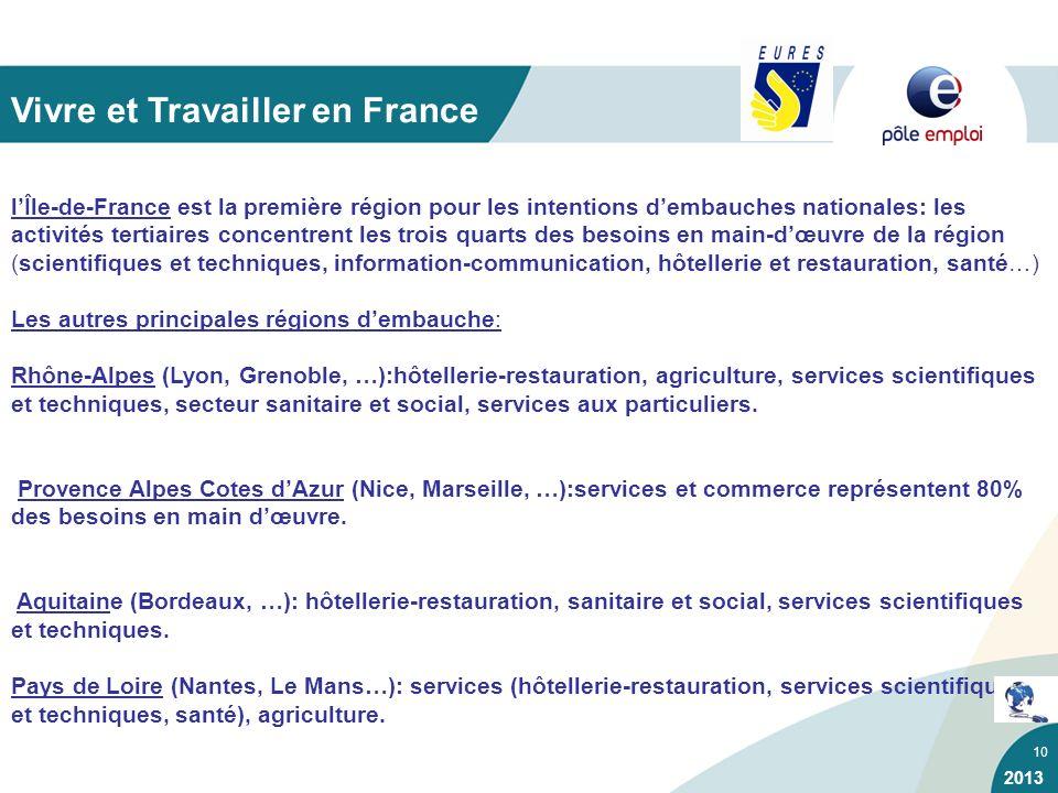 10 lÎle-de-France est la première région pour les intentions dembauches nationales: les activités tertiaires concentrent les trois quarts des besoins