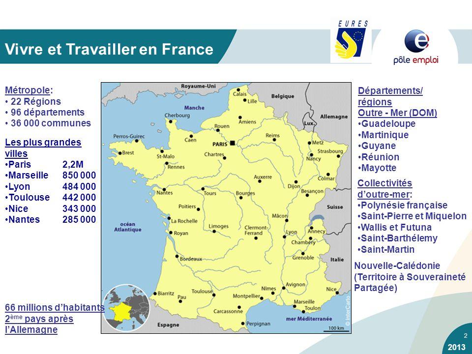 2 Vivre et Travailler en France Départements/ régions Outre - Mer (DOM) Guadeloupe Martinique Guyane Réunion Mayotte Collectivités doutre-mer: Polynés