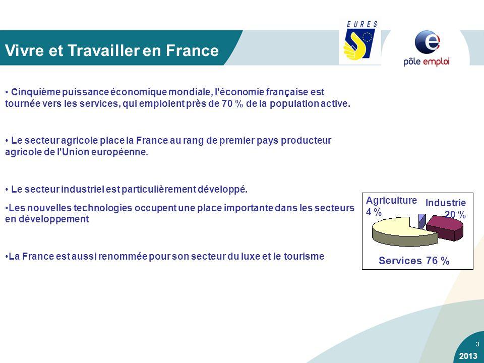 3 Cinquième puissance économique mondiale, l'économie française est tournée vers les services, qui emploient près de 70 % de la population active. Le