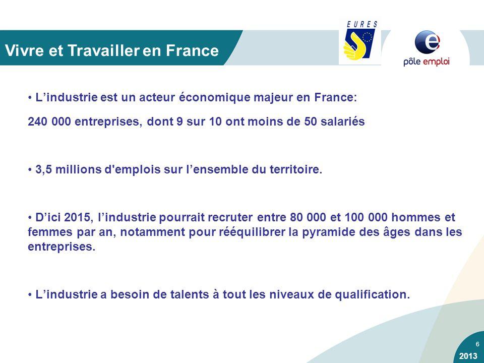6 Lindustrie est un acteur économique majeur en France: 240 000 entreprises, dont 9 sur 10 ont moins de 50 salariés 3,5 millions d'emplois sur lensemb