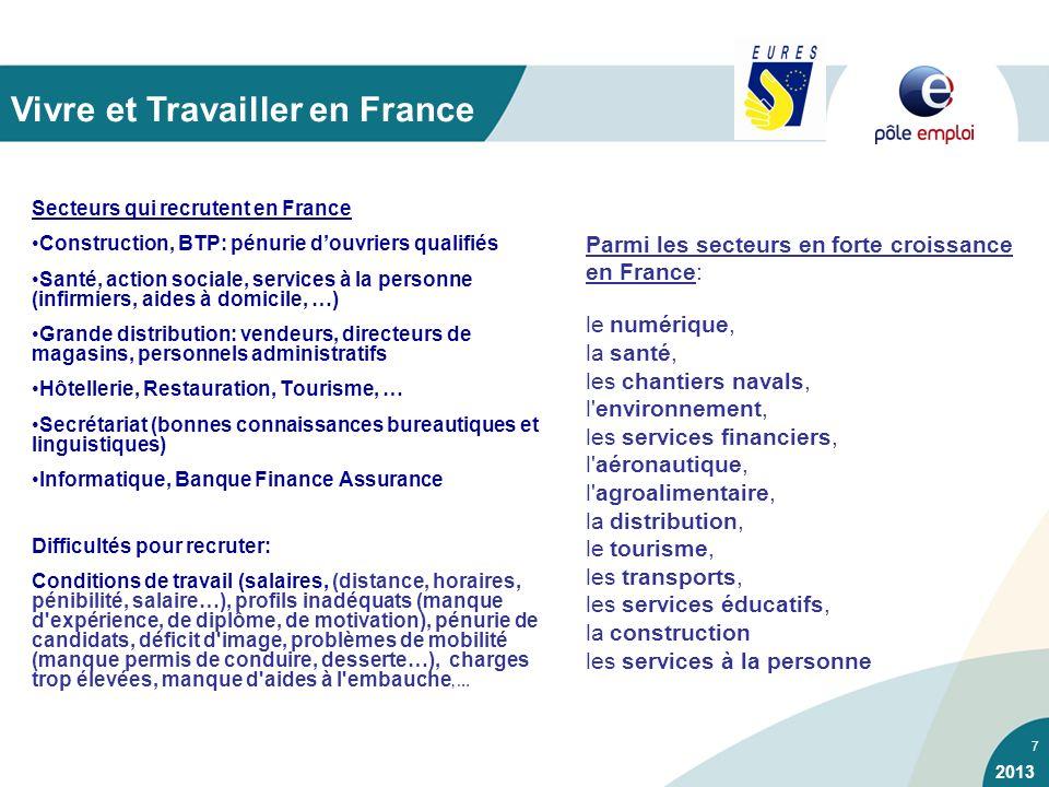 7 Secteurs qui recrutent en France Construction, BTP: pénurie douvriers qualifiés Santé, action sociale, services à la personne (infirmiers, aides à d