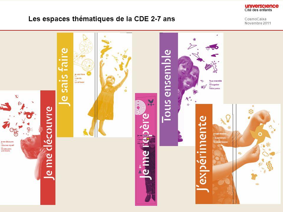 CosmoCaixa Novembre 2011 Cité des enfants Les espaces thématiques de la CDE 2-7 ans