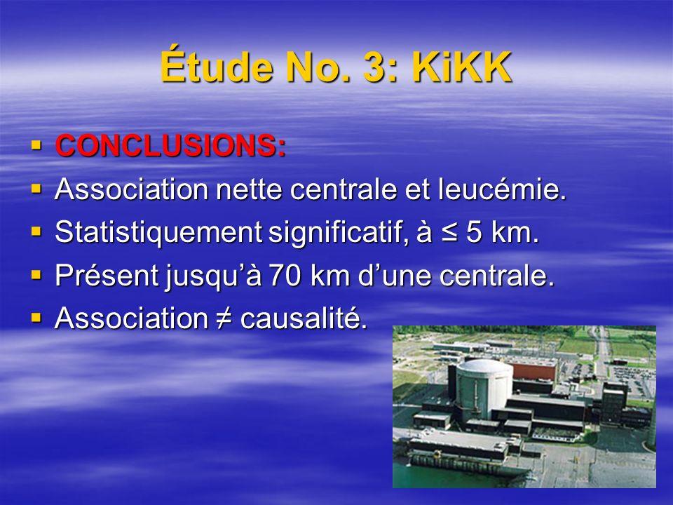 CONCLUSIONS: CONCLUSIONS: Association nette centrale et leucémie.