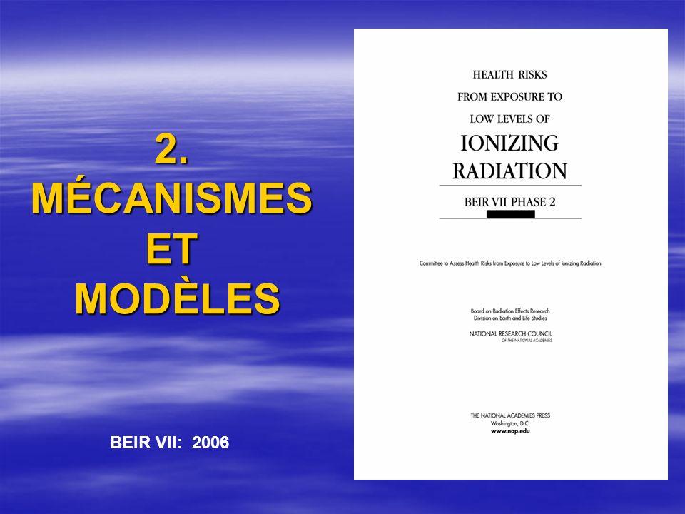 2. MÉCANISMES ET MODÈLES BEIR VII: 2006