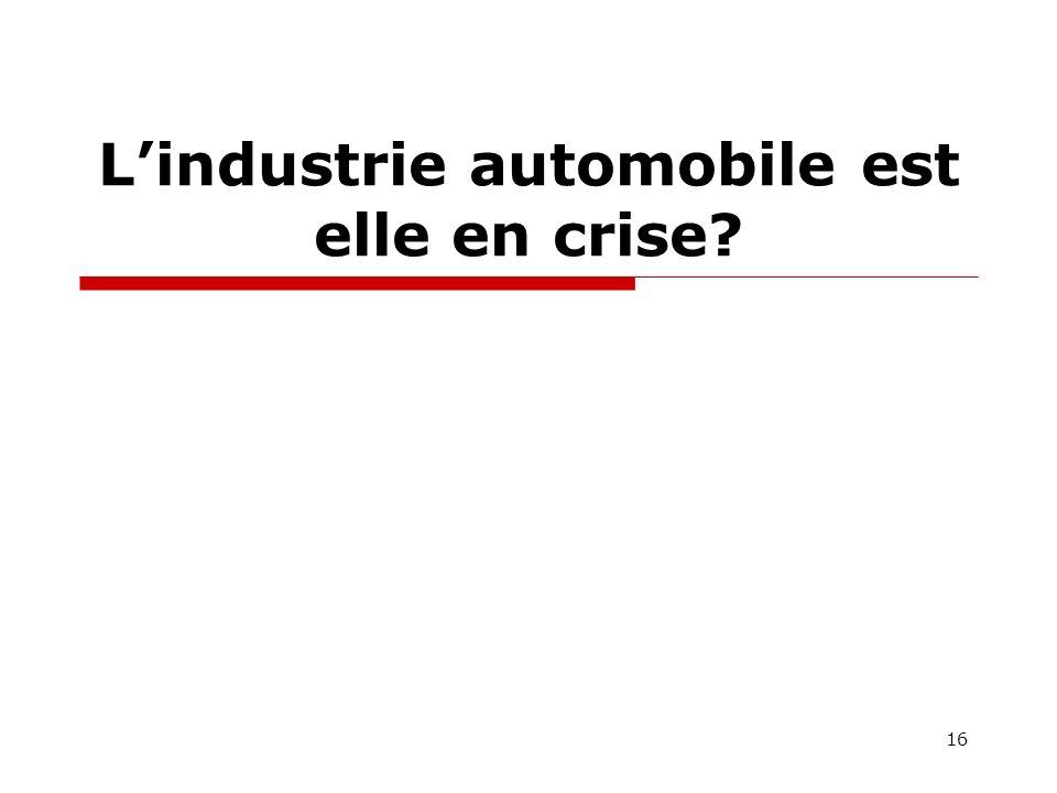 Lindustrie automobile est elle en crise 16