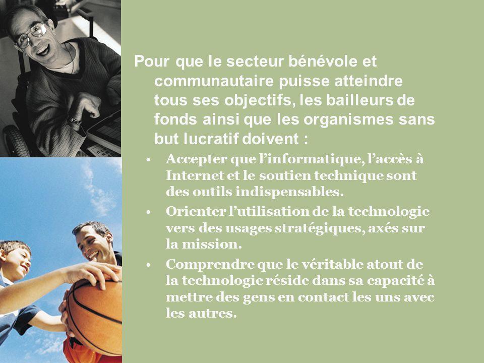 Renforcez votre capacité, ainsi que celle de tous les bailleurs de fonds, à répondre aux besoins en matière de technologie.