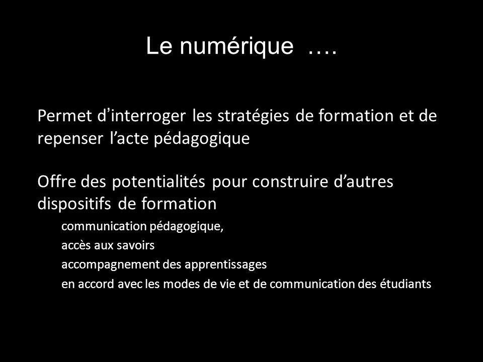 Le numérique ….