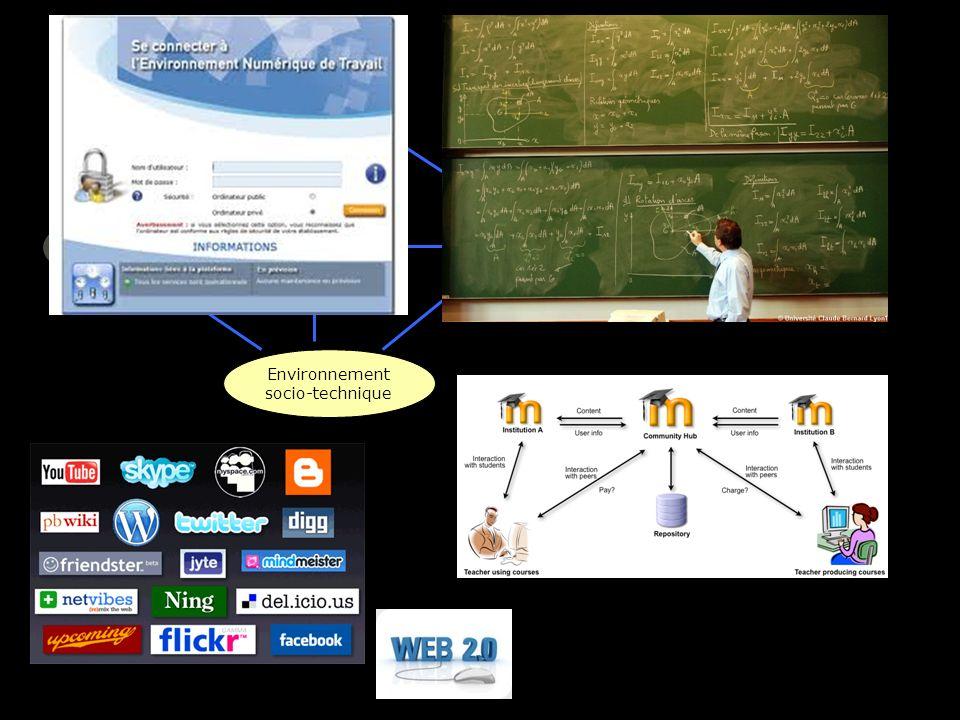 savoir apprenants enseignan t Environnement socio-technique