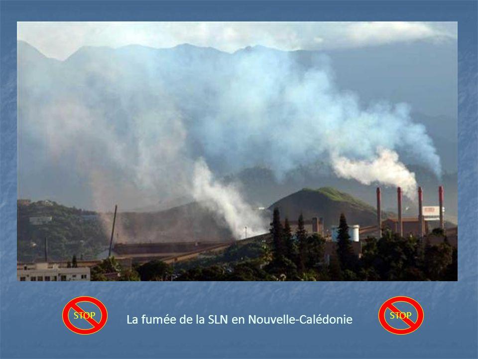 La fumée de la SLN en Nouvelle-Calédonie STOP