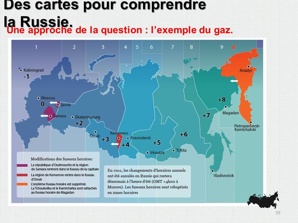 Des cartes pour comprendre la Russie. Une approche de la question : lexemple du gaz. 39