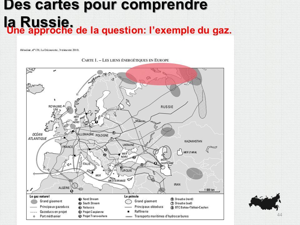 Des cartes pour comprendre la Russie. Une approche de la question: lexemple du gaz. 44