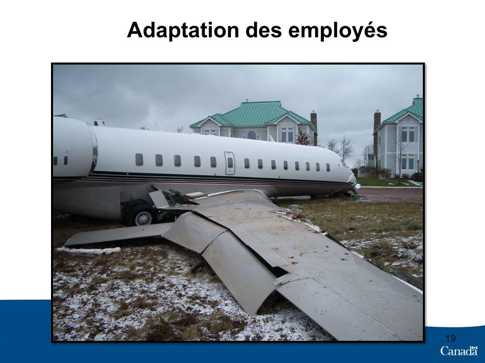 19 Adaptation des employés