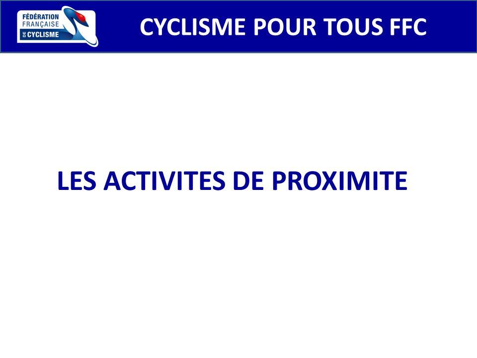 CYCLISME POUR TOUS FFC LES ACTIVITES DE PROXIMITE