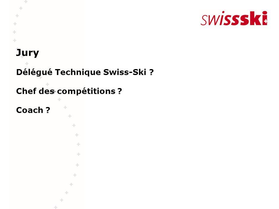 Jury Délégué Technique Swiss-Ski ? Chef des compétitions ? Coach ?