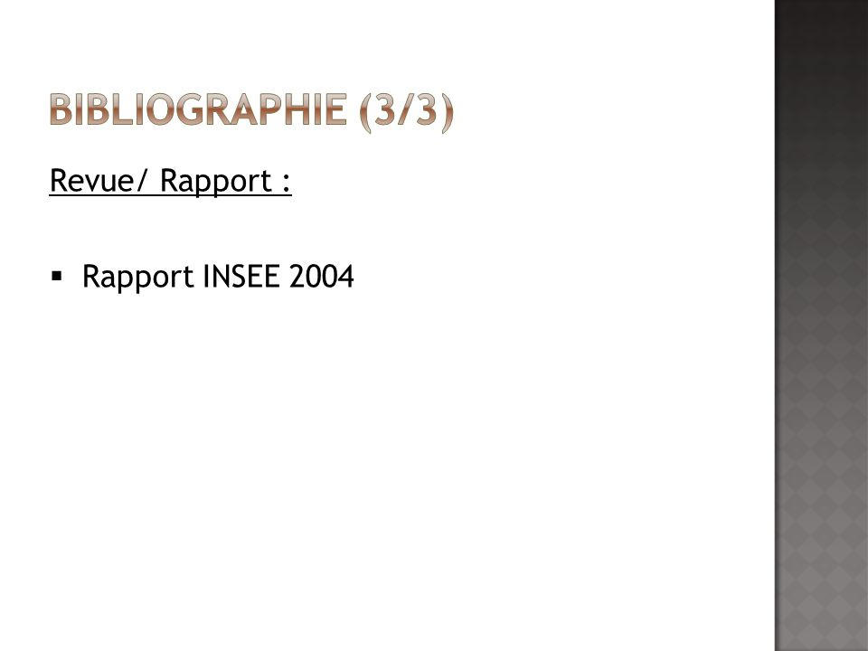 Revue/ Rapport : Rapport INSEE 2004