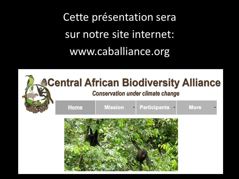 Cette présentation sera sur notre site internet: www.caballiance.org