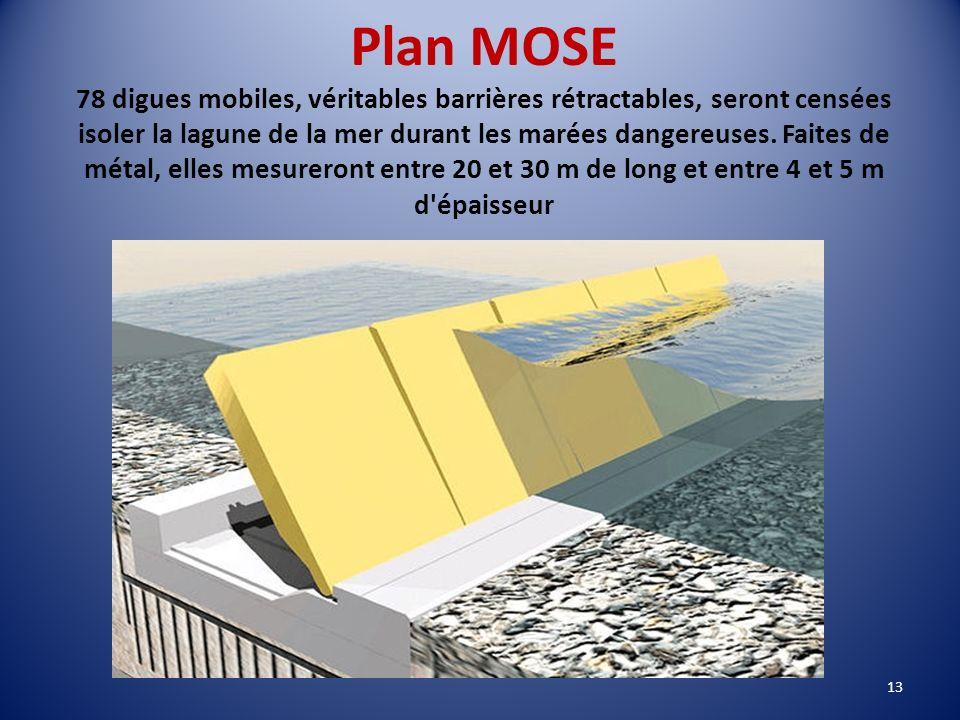 Environnement - maintien de l'équilibre de la lagune: construction d'écluses - projet MOSE - consolidation des berges, projets alternatifs.. - combatt