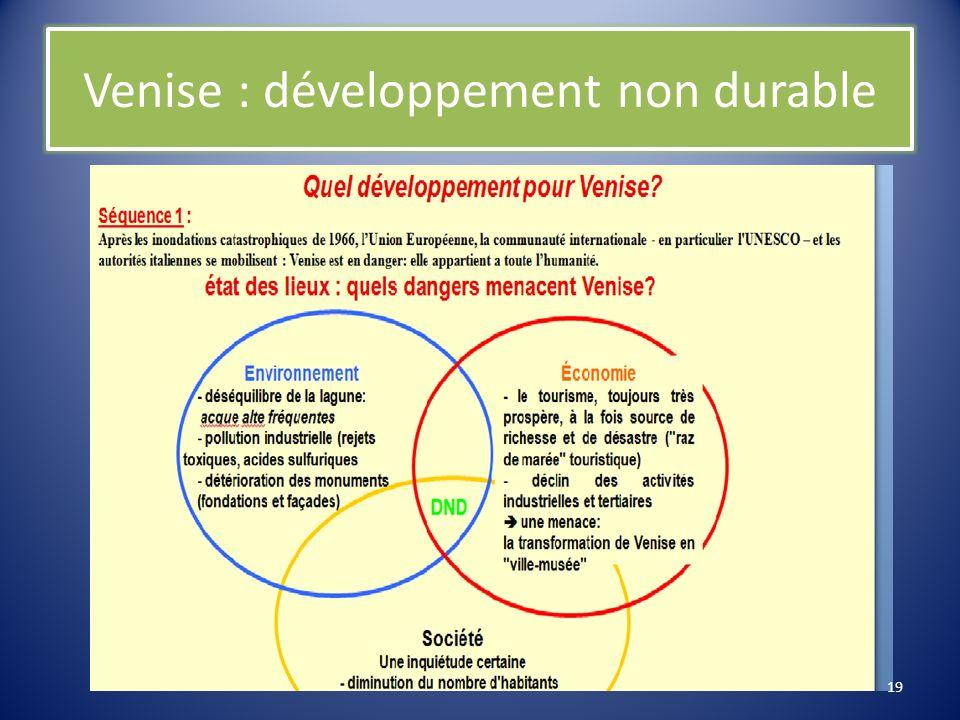 Société - revitalisation sociale de Venise - rénovation de l habitat - amélioration de la qualité de vie - projet île de la Giudecca - remédiation artisanale - transfert de lUnesco au Lido 18
