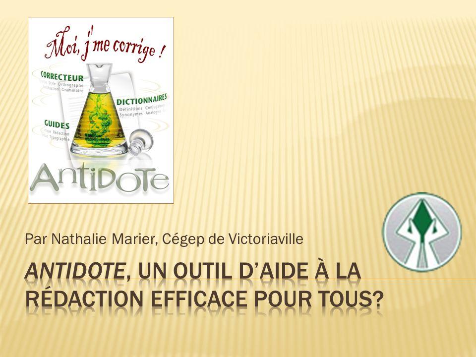 Par Nathalie Marier, Cégep de Victoriaville