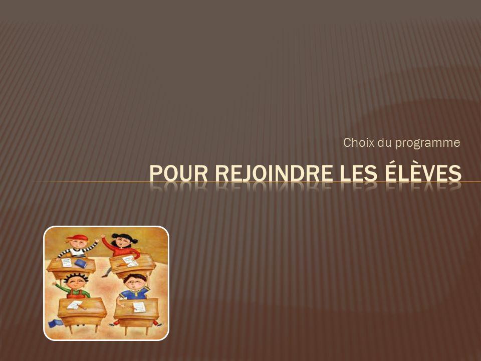 Nous bénéficions de 2 blocs de 2 heures contact avec les élèves, intégrés au cours Espace québécois et méthodologie.