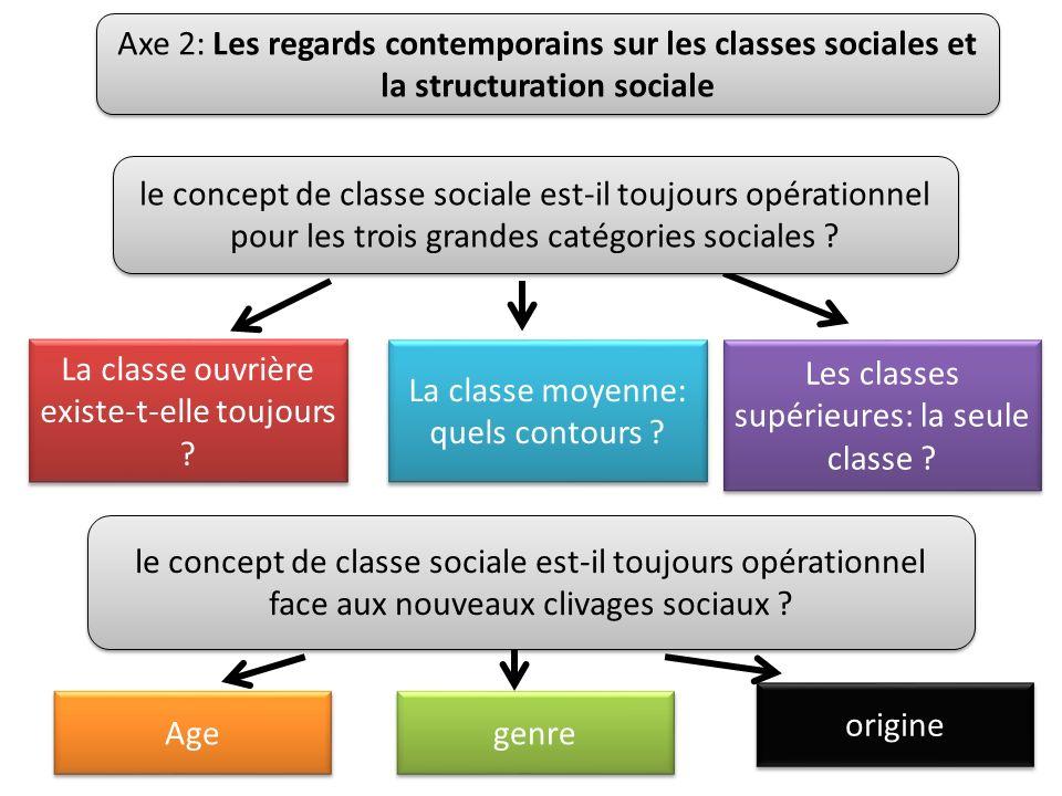 Axe 2: Les regards contemporains sur les classes sociales et la structuration sociale La classe ouvrière existe-t-elle toujours .