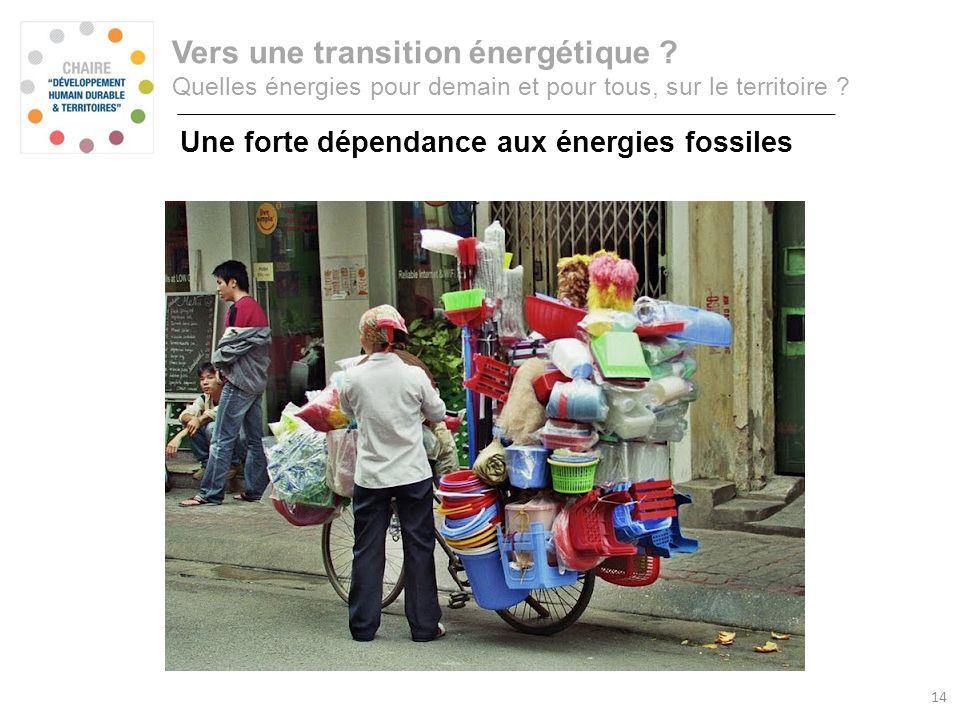 Consommation annuelle dénergie primaire Vers une transition énergétique ? Quelles énergies pour demain et pour tous, sur le territoire ? Une forte dép