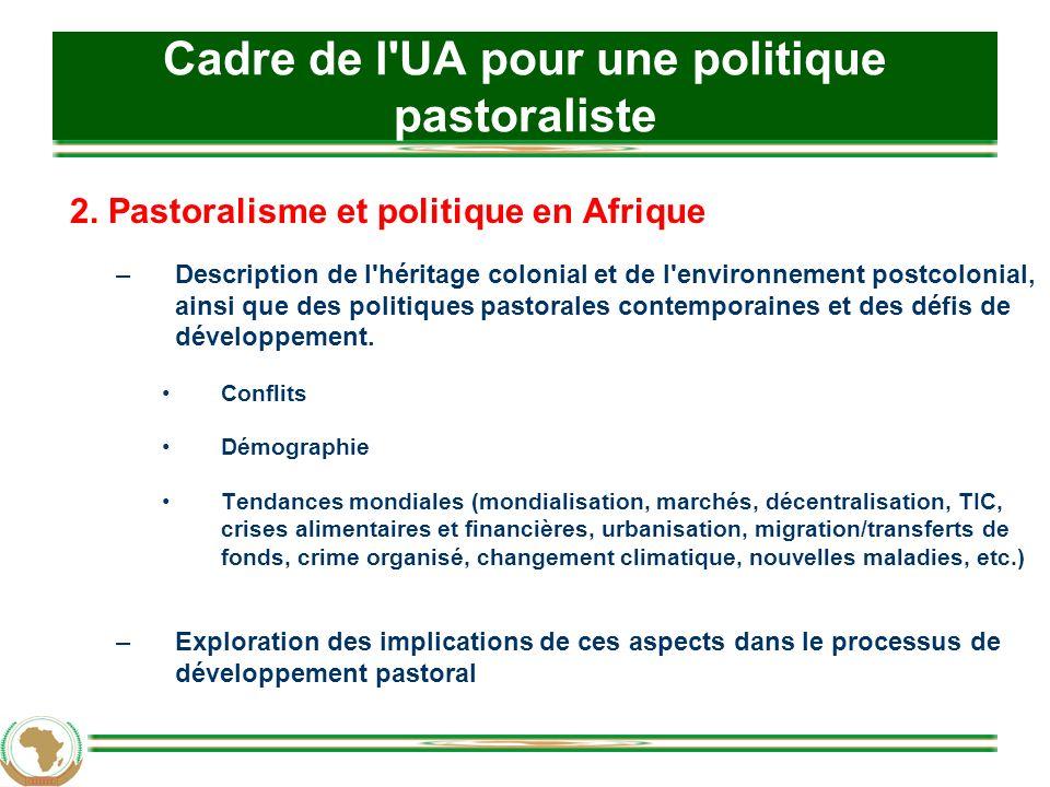 Cadre de l UA pour une politique pastoraliste 2.