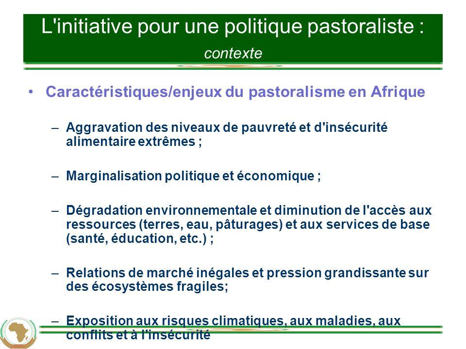 Cadre de l UA pour une politique pastoraliste 3.2.