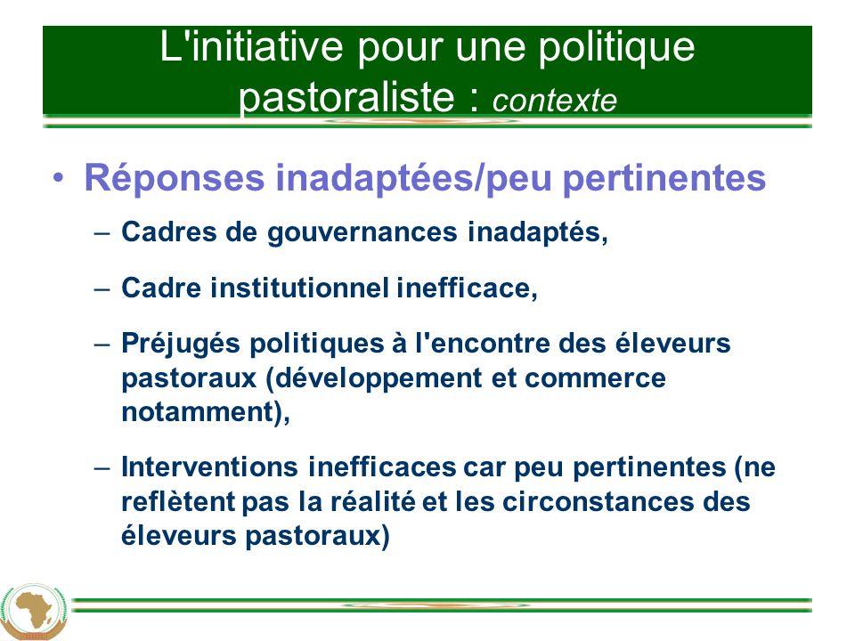 Cadre de l UA pour une politique pastoraliste 3.3.