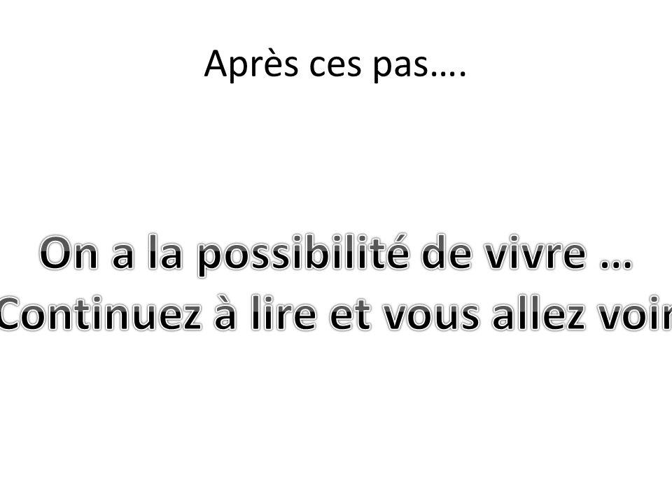 Après ces pas….