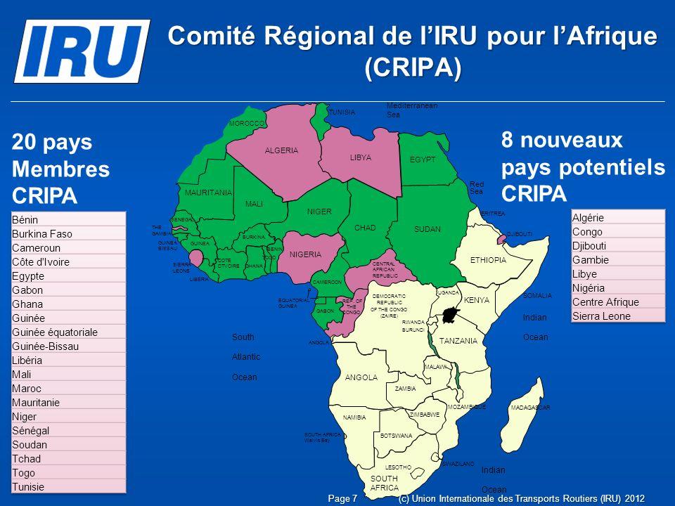 www.iru.org (c) Union Internationale des Transports Routiers (IRU) 2012Page 18