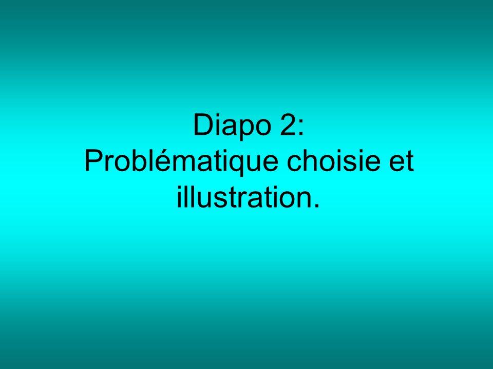 Diapo 2: Problématique choisie et illustration.