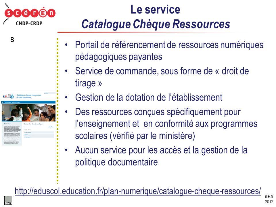 gerard.puimatto@crdp-aix-marseille.fr Eduter, mars 2012 Certains droits réservés http://creativecommons.org/licenses/by-nc-sa/2.0/fr / 88 Le service C